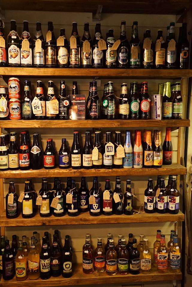 Bottles On Shelves